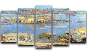 The port of Gloucester 1 by Hassam 5 Split Panel Canvas - Canvas Art Rocks - 1