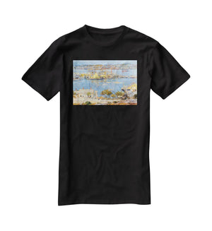 The port of Gloucester 1 by Hassam T-Shirt - Canvas Art Rocks - 1