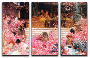 The roses of Heliogabalus by Alma Tadema 3 Split Panel Canvas Print - Canvas Art Rocks - 1