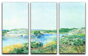 The small pond by Hassam 3 Split Panel Canvas Print - Canvas Art Rocks - 1