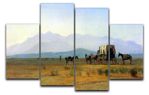 The stagecoach in the Rockies by Bierstadt 4 Split Panel Canvas - Canvas Art Rocks - 1