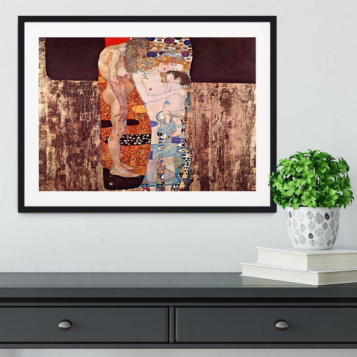 The three ages of a woman by Klimt Framed Print