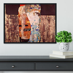 The three ages of a woman by Klimt Framed Print - Canvas Art Rocks - 2
