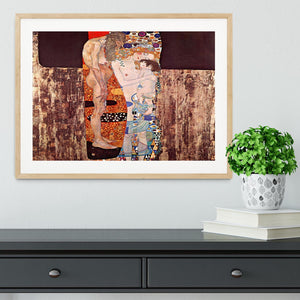 The three ages of a woman by Klimt Framed Print - Canvas Art Rocks - 3