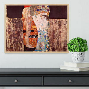 The three ages of a woman by Klimt Framed Print - Canvas Art Rocks - 4