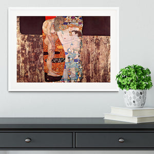 The three ages of a woman by Klimt Framed Print - Canvas Art Rocks - 5