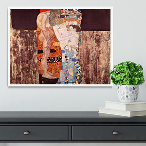 The three ages of a woman by Klimt Framed Print - Canvas Art Rocks -6