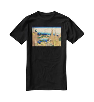 The timberyard at Honjo by Hokusai T-Shirt - Canvas Art Rocks - 1