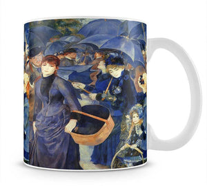 The umbrellas by Renoir Mug - Canvas Art Rocks - 1