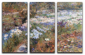 The water garden by Hassam 3 Split Panel Canvas Print - Canvas Art Rocks - 1