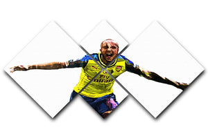 Theo Walcott Cup Final Goal 4 Square Multi Panel Canvas  - Canvas Art Rocks - 1