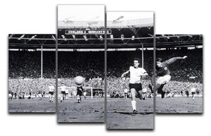They think its all over Geoff Hurst Goal 4 Split Panel Canvas  - Canvas Art Rocks - 1