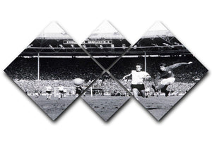 They think its all over Geoff Hurst Goal 4 Square Multi Panel Canvas  - Canvas Art Rocks - 1
