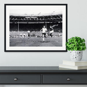 They think its all over Geoff Hurst Goal Framed Print - Canvas Art Rocks - 1