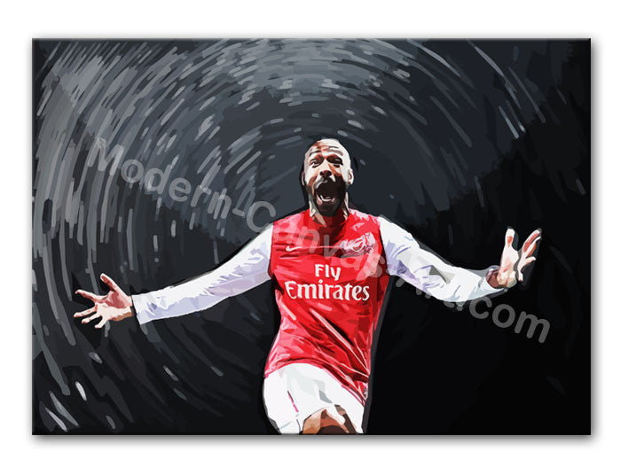 Thierry Henry Print - Canvas Art Rocks - 1