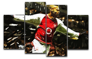 Thierry Henry Legend 4 Split Panel Canvas  - Canvas Art Rocks - 1