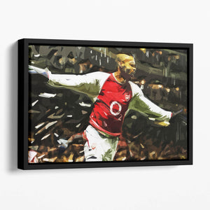 Thierry Henry Legend Floating Framed Canvas