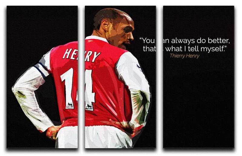 Thierry Henry You Can Alway Do Better 3 Split Panel Canvas Print - Canvas Art Rocks - 1