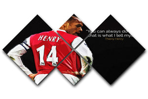Thierry Henry You Can Alway Do Better 4 Square Multi Panel Canvas  - Canvas Art Rocks - 1