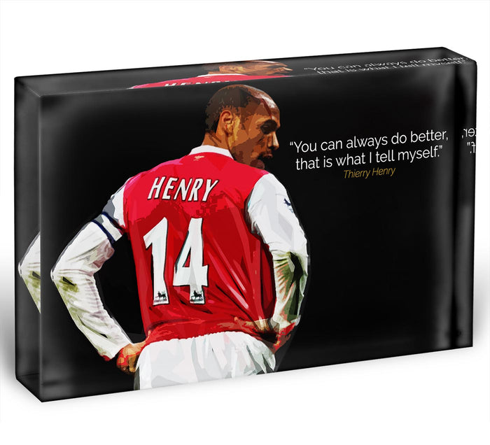 Thierry Henry You Can Alway Do Better Acrylic Block