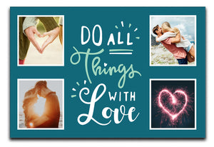 Things With Love Personalised Photo Canvas a