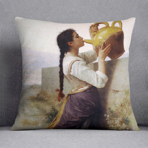 Thirst By Bouguereau Cushion