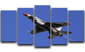Thunderbirds F-16 fighter 5 Split Panel Canvas  - Canvas Art Rocks - 1