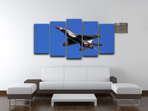 Thunderbirds F-16 fighter 5 Split Panel Canvas  - Canvas Art Rocks - 3