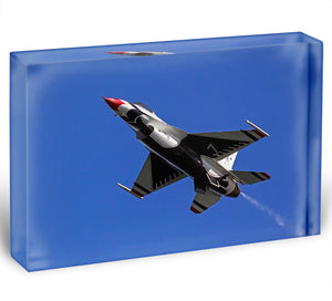 Thunderbirds F-16 fighter Acrylic Block - Canvas Art Rocks - 1