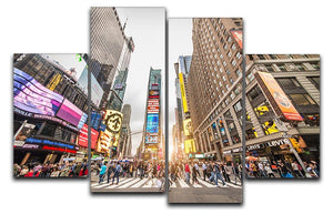 Times Square at sunset 4 Split Panel Canvas  - Canvas Art Rocks - 1