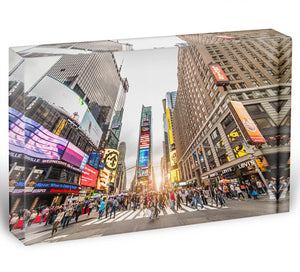 Times Square at sunset Acrylic Block - Canvas Art Rocks - 1