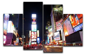 Times Square featured with Broadway Theaters 4 Split Panel Canvas  - Canvas Art Rocks - 1