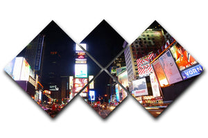 Times Square featured with Broadway Theaters 4 Square Multi Panel Canvas  - Canvas Art Rocks - 1