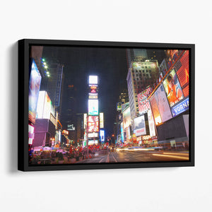 Times Square featured with Broadway Theaters Floating Framed Canvas