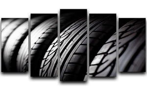 Tire stack background 5 Split Panel Canvas  - Canvas Art Rocks - 1