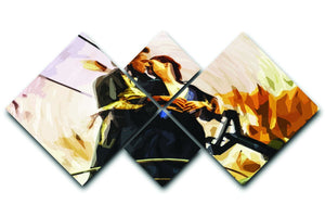 Titanic Jack And Rose 4 Square Multi Panel Canvas  - Canvas Art Rocks - 1