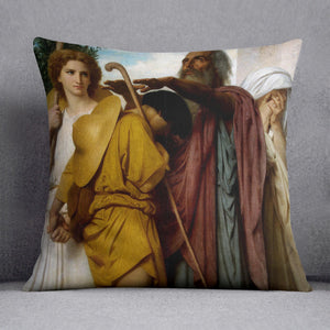 Tobias Saying Good-Bye to his Father By Bouguereau Cushion