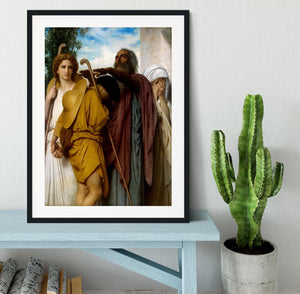 Tobias Saying Good-Bye to his Father By Bouguereau Framed Print - Canvas Art Rocks - 1