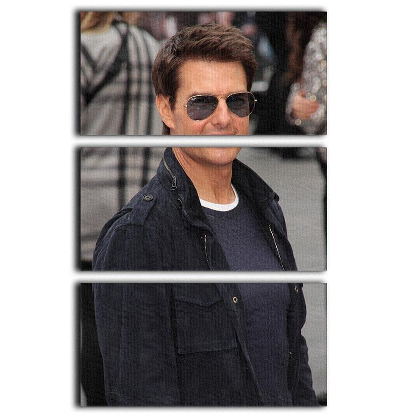 Tom Cruise in sunglasses 3 Split Panel Canvas Print - Canvas Art Rocks - 1