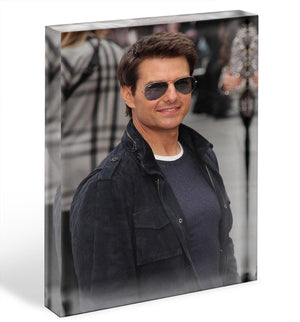Tom Cruise in sunglasses Acrylic Block - Canvas Art Rocks - 1