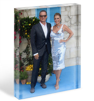 Tom Hanks and Rita Wilson Acrylic Block - Canvas Art Rocks - 1