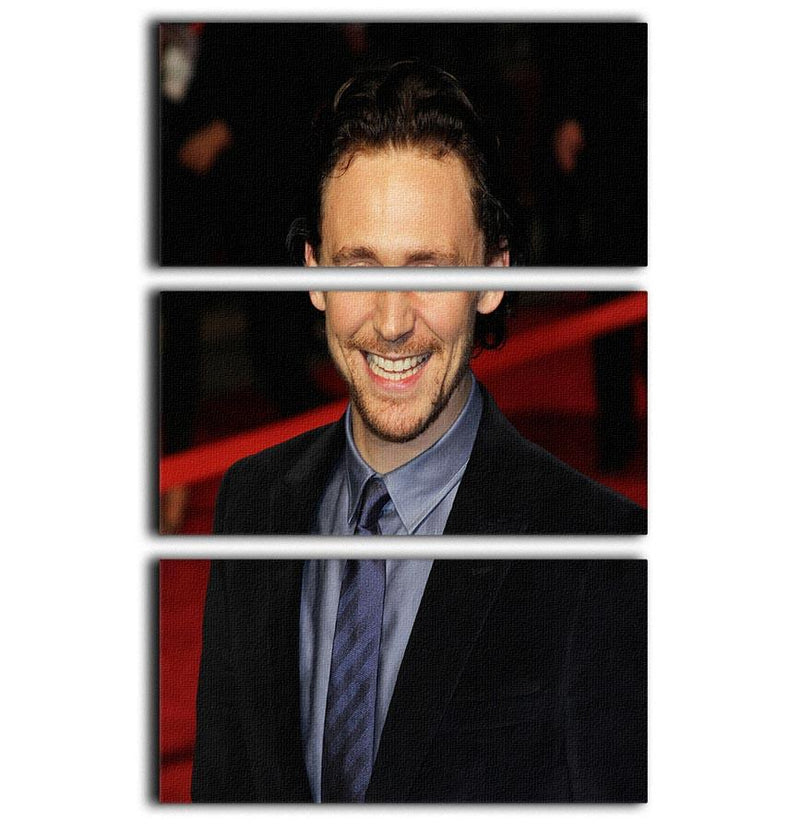 Tom Hiddleston 3 Split Panel Canvas Print - Canvas Art Rocks - 1