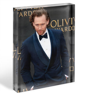 Tom Hiddlestone Acrylic Block - Canvas Art Rocks - 1