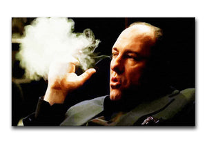 Tony Soprano Cigar Smoke Print - Canvas Art Rocks - 1