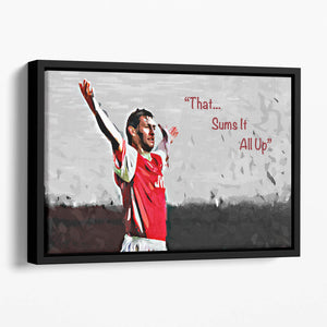 Tony Adams That Sums It All Up Floating Framed Canvas