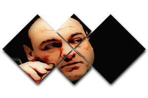 Tony Soprano 4 Square Multi Panel Canvas  - Canvas Art Rocks - 1