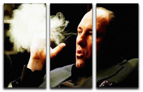 Tony Soprano Cigar Smoke 3 Split Canvas Print