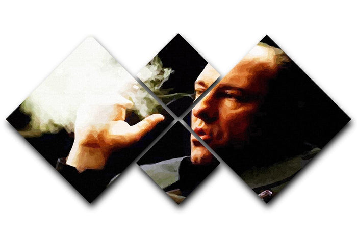 Tony Soprano Cigar Smoke 4 Square Multi Panel Canvas