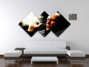 Tony Soprano Cigar Smoke 4 Square Multi Panel Canvas - Canvas Art Rocks - 3