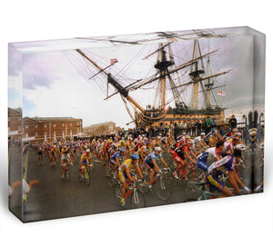 Tour de France in Portsmouth Acrylic Block - Canvas Art Rocks - 1